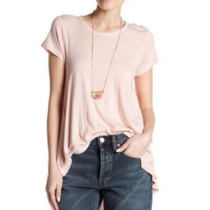 NWT we the free free people it's yours Tee Pink xs